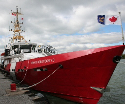 "A new Canadian Coast Guard patrol vessel has be named after Private Robertson. This particular group of vessels are described as ""Hero Class""."